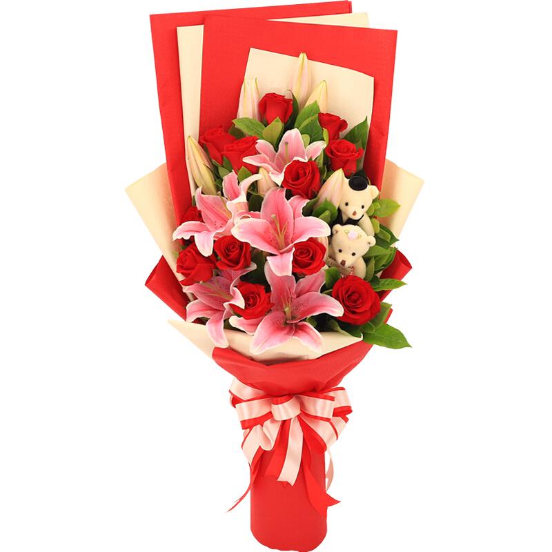 12朵红玫瑰/花开不败