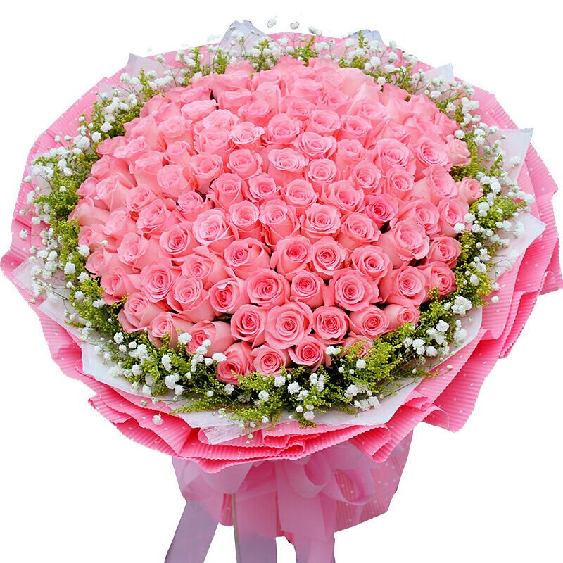 99枝粉色玫瑰/一曲思念