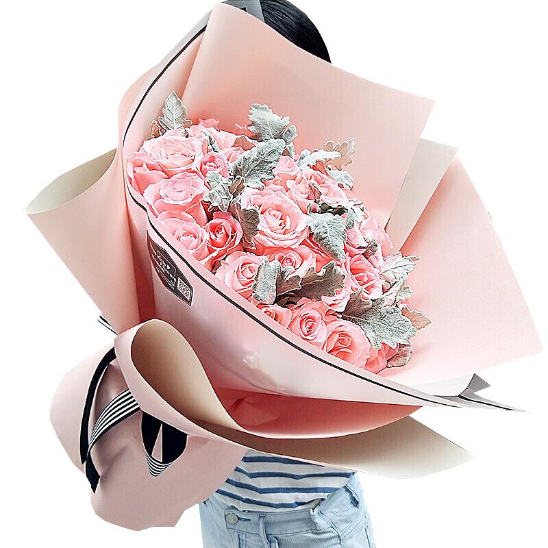 33朵戴安娜粉玫瑰/香蜜沉沉烬如霜