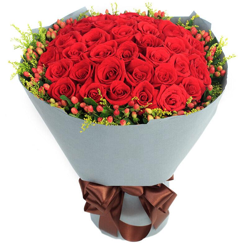33朵优质红玫瑰/深情时刻