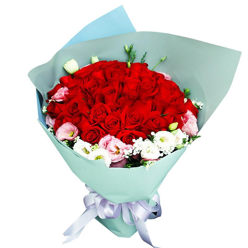 精选33朵红玫瑰/无时无刻