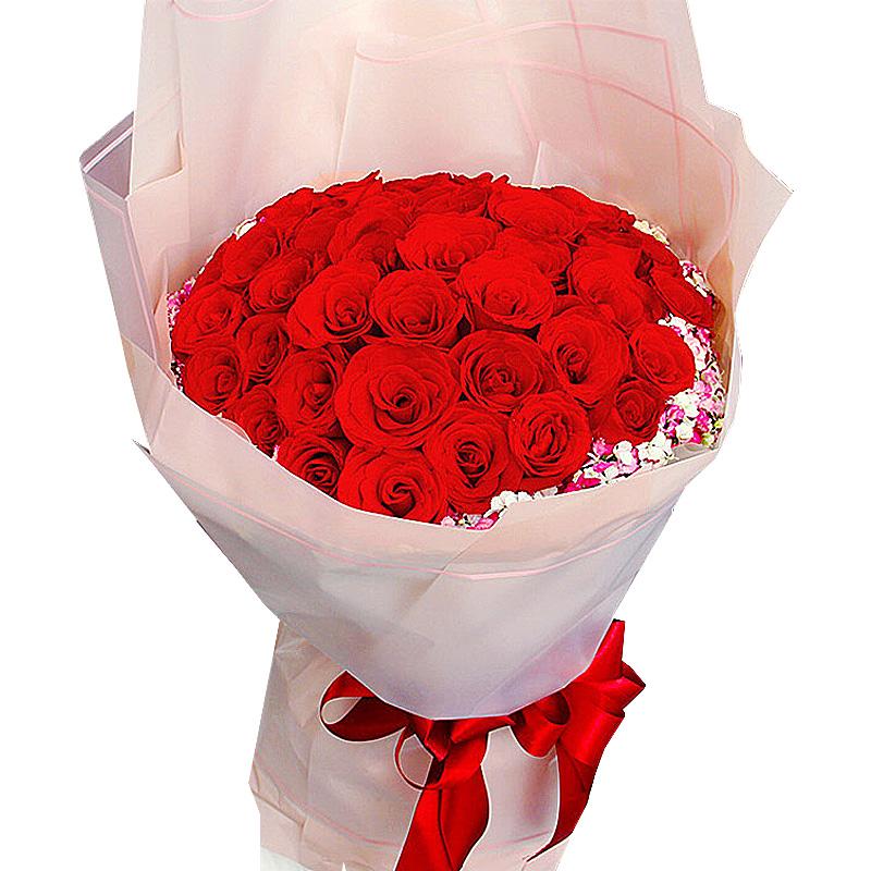 33朵顶级红玫瑰/初心不变