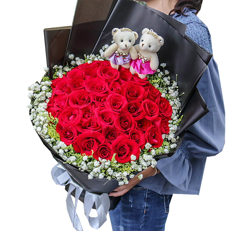 33朵精品红玫瑰/天荒地老