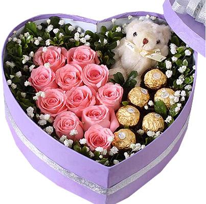 11朵粉玫瑰/坚定的爱