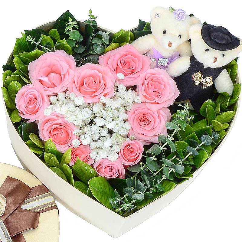 11枝上等戴安娜玫瑰/你的甜蜜