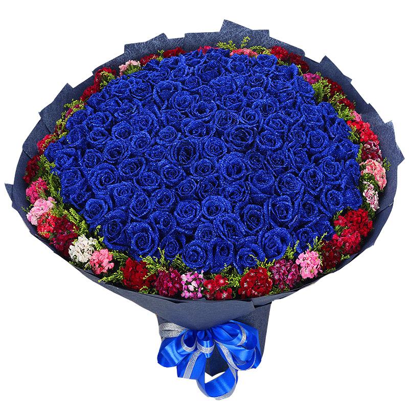 99枝蓝玫瑰/许你一世
