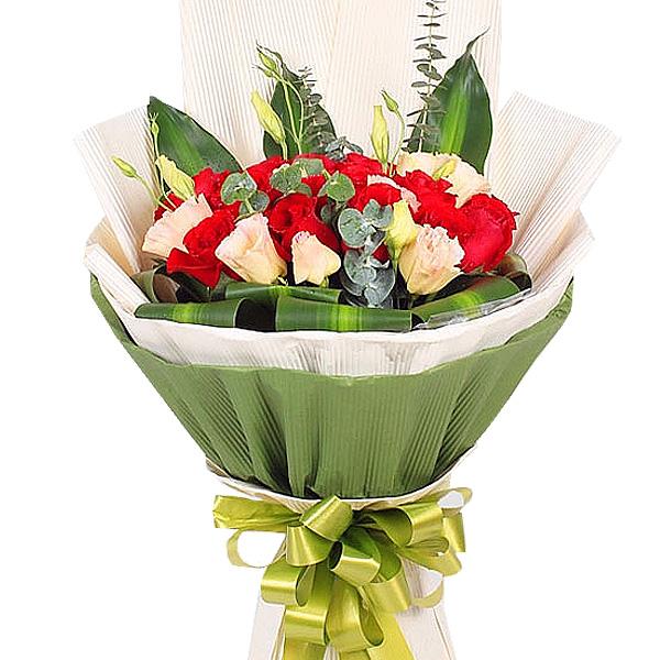 精选优质19枝红玫瑰/爱历久弥新