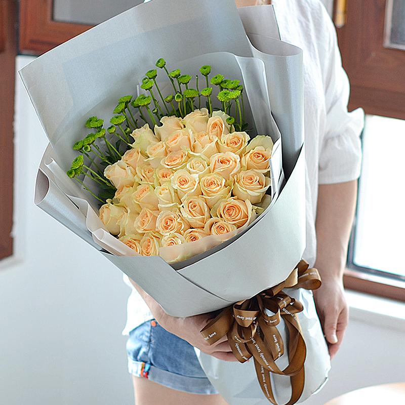 33朵香槟玫瑰/思念蔓延