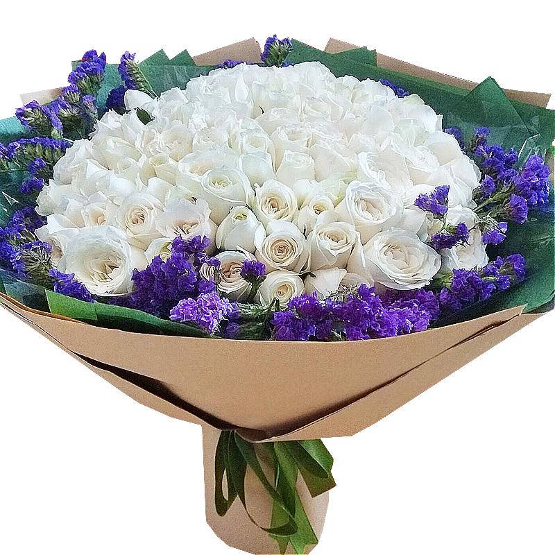 99朵顶级白玫瑰/你最珍贵
